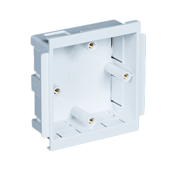 Single Outlet Box for Cable Management Systems at Falcon Trunking.