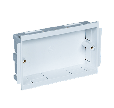 uPVC Double Box Outlet for cable management systems - falcon trunking systems.